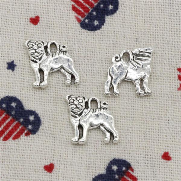169pcs Charms dog 16*15mm Pendant,Tibetan Silver Pendant,For DIY Necklace & Bracelets Jewelry Accessories