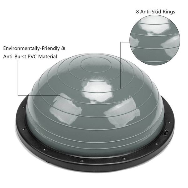 High quality PVC and ABS Ball Gym Household Balanced Hemisphere thickened Yoga Ball for Fitness Supplies