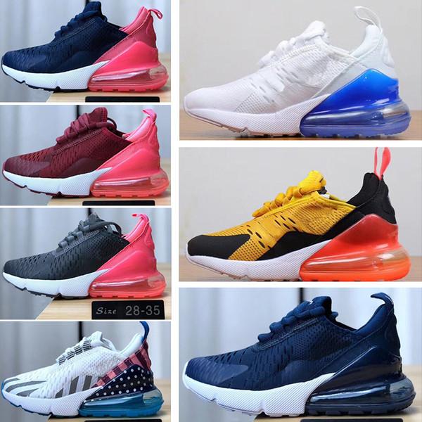 Nike air max 270 Zapatillas de deporte Unisex Niños zapatos casuales color sésamo 2019 primavera lindo fresco moda malla zapatos superiores nueva llegada