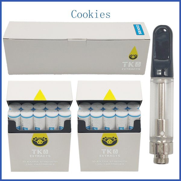 Pyrex Glass Tank Vape Cartridge TKO Packaging Carts Vaporizer 0.8ml 1.0ml vape pen Atomizer Best Taste 20 flavors
