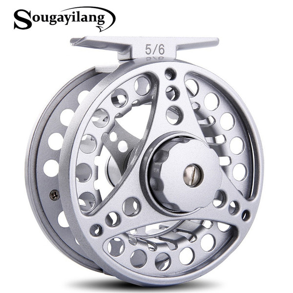 Sougayilang 3BB s Aluminium Alloy 5/6WT Reel Gear Machined Micro Adjusting Drag Fly Fishing Reel