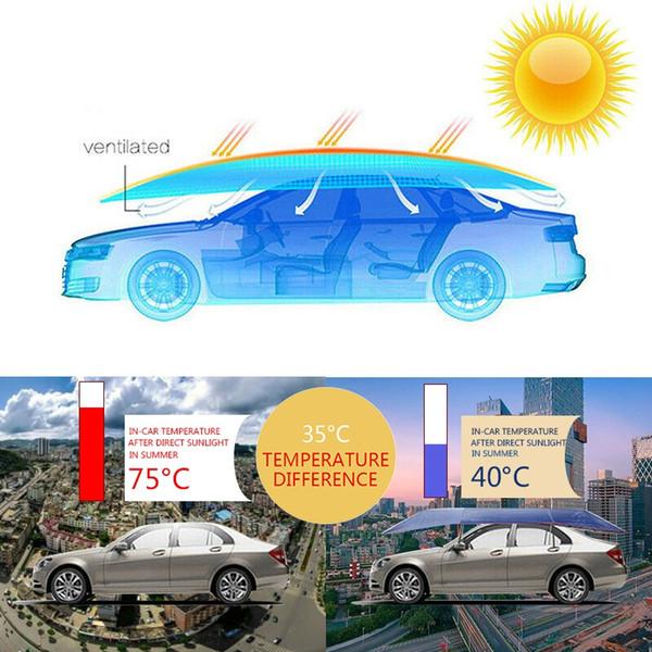 Universal Car dello schermo di Sun copertura dell'ombrello della tenda panno UV protegge 4X2.1M impermeabile