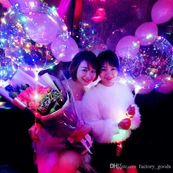Luminous Bobo Balloons LED-Licht Ballon 20 Zoll Luftballons für Hochzeit Zubehör Party Festival Luminous Dekorationen Spielzeug