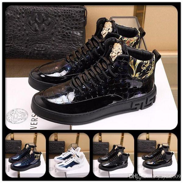erkekler kadınlara İÇİN AQ Lüks Tasarımcılar ayakkabı rahat ayakkabı numarası 38-44 yürüyen Sliver Siyah Yeşil Pembe şerit deri perçinler