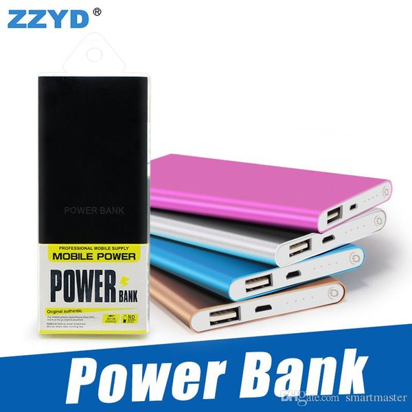 ZZYD Portable Ultra thin slim powerbank 4000mah charger power bank for S8 mobile phone Tablet PC External battery
