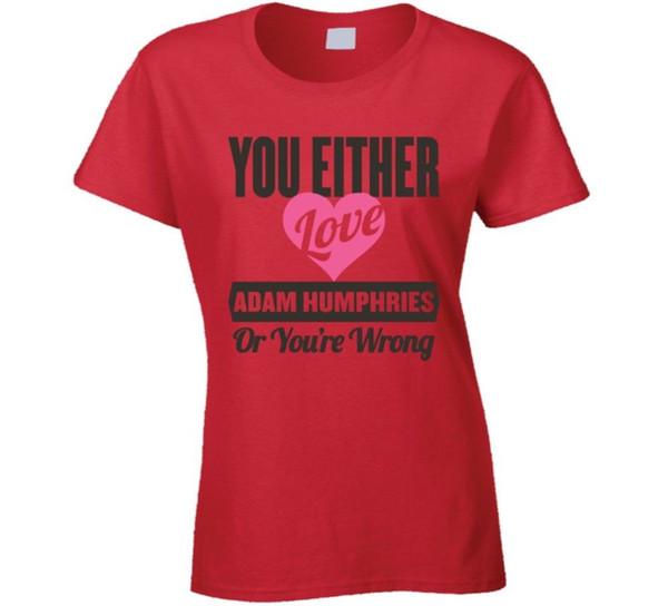 Tanto Love Adam Humphries Tampa Bay Fútbol Deportes Atleta Camiseta Divertido envío gratis Unisex tee