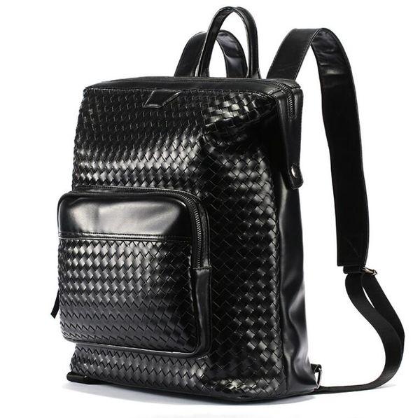 2019 luxury Men Women Black Woven backpack bags Fashion designer Shoulder bag weaving briefcase belt Totes Packsack luggage Bags
