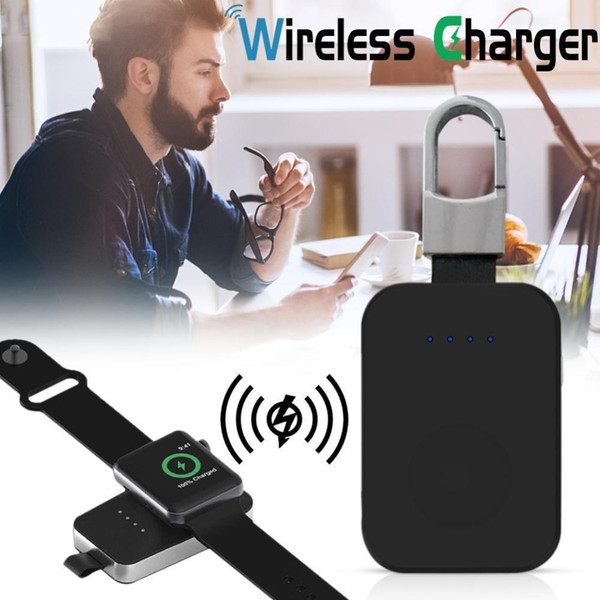 External Battery Pack QI Wireless Charger for Apple Watch Wireless Charger Power Bank 950mah Portable Outdoor charger For iWatch 1 2 3 4