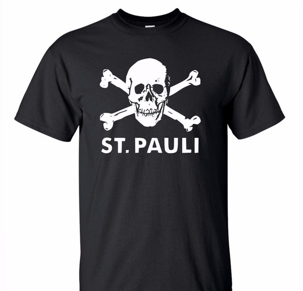 St Pauli Cráneo camiseta del punk futbolista adolescente rebelde Edad primer golpe de calidad superior T Shirts Hombres o cuello