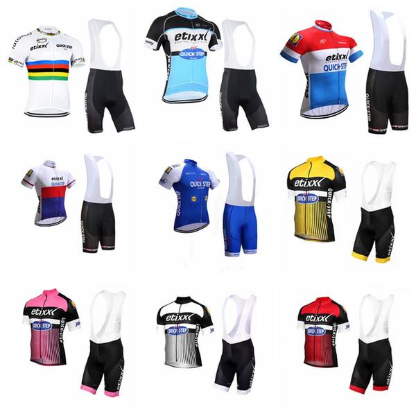 HIZLI ADIM ekibi Bisiklet Kısa Kollu jersey bib şort setleri Yaz Erkek Rahat Giymek dayanıklı Spor Sürme elbise Q80623