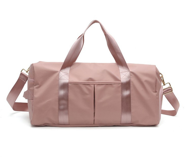 Fashion Large Capacity Shoulder Bags For Women Shoes Tas Travel Bags Waterproof Nylon Bags Dry Wet Women's Handbags