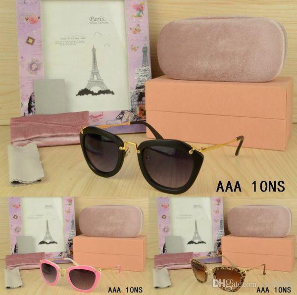 6589981813 Styliste pour dames Cat Eye lunettes de soleil Lunettes de plein air pour  femmes avec écrin