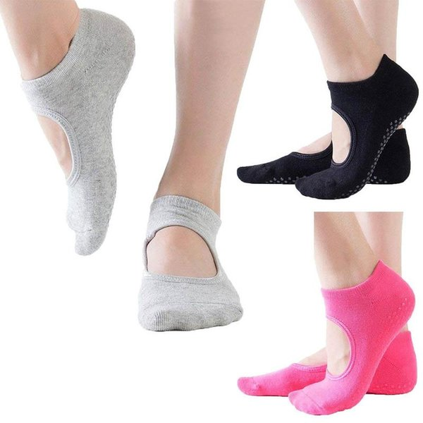 1Pair Fashional Yoga Socks Adult Anti Slip Home Sox Knitted Cotton Terry Toe Sock Sports Socks In Stocks Black Pink Gray TSU9026
