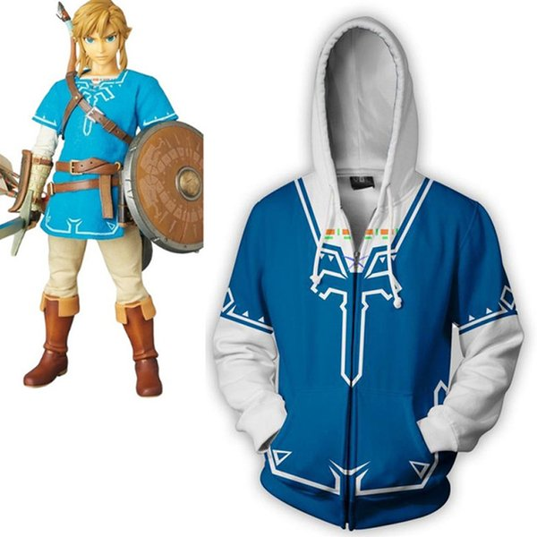 The Legend Of Zelda: Breath Of The Wild Cosplay Men Clothing Autumn 2018 Fashion 3D Printing Zipper Hoodies Sweatshirts Jacket Cos Play Costume Anime