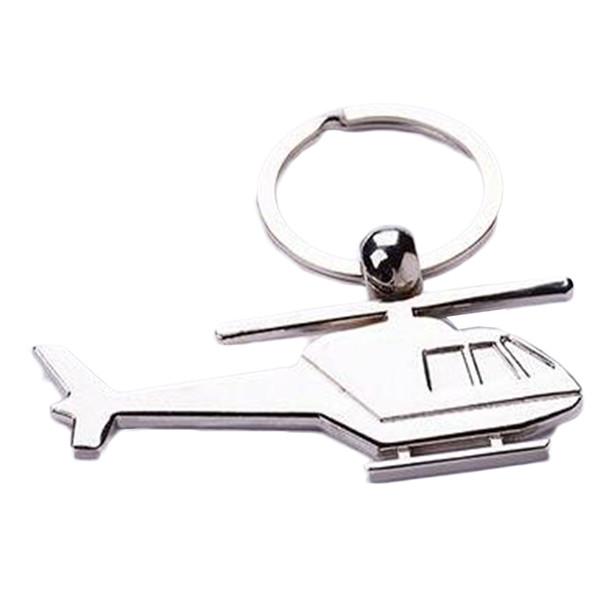 Zinc Alloy Plane Keychain Mini Helicopters Model Key Ring Key Holder Plane Key chain metal Helicopter Airplane keyring
