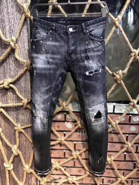 Nuevo exclusivo D2019 moda italiana estiramiento parche delgado punto de reparación de gama alta guapo masculino 605 A21819