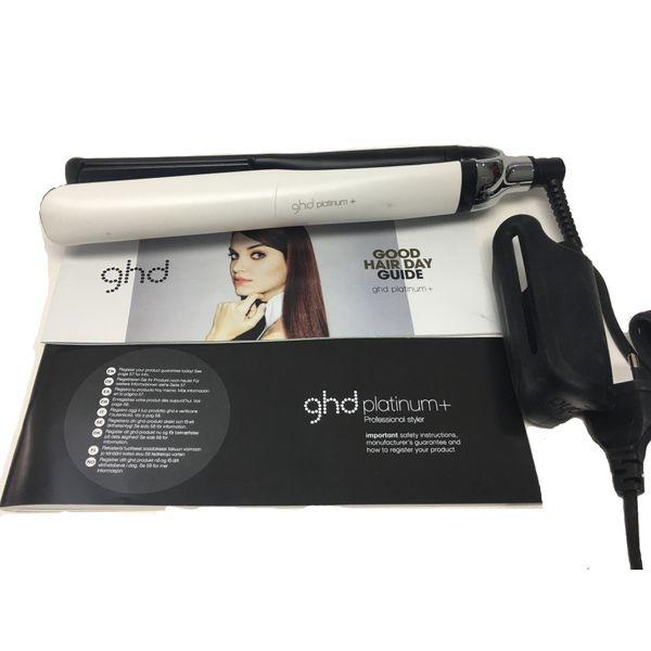 top popular 2020 PLATINUM + Hair Straighteners Professional Styler Flat Hair Iron Straightener Hair Styling tool Black Color Good Quality 2020