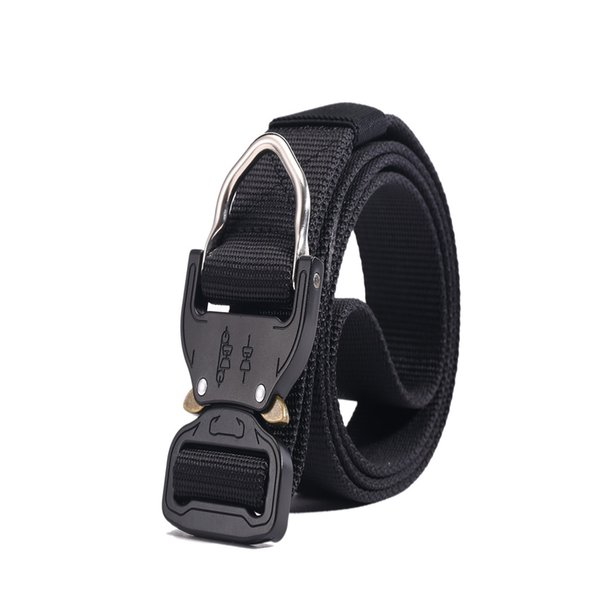Tactical Belt Nylon Belt Men Army Style 120CM Automatic Plastic Buckle High Quality For Outdoor Activity