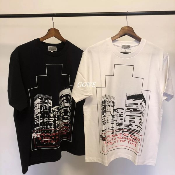cav empt C.E ZIGGURAT PRINT Tee 18SS Short sleeve t-shirt black white