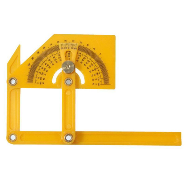top popular New Arrival ABS protractor angle ruler woodworking ruler ruler 165 degrees hand measure tools 2021