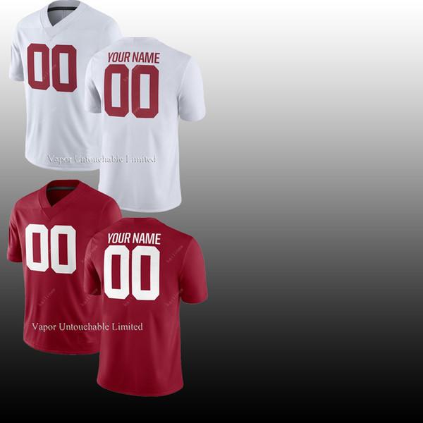 Hommes NCAA JERSEY Vapor Untouchable Elite 2 Jalen Hurts 13 Tua Tagovailoa 3 Ridley American College Football maillots