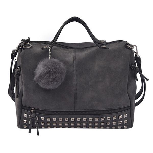 Mulheres Rebite Tote Mulheres Sacos de Bolsas de Grife Moda Feminina Pu Bolsa De Couro Para Crossbody Bag Grande Capacidade Torebka