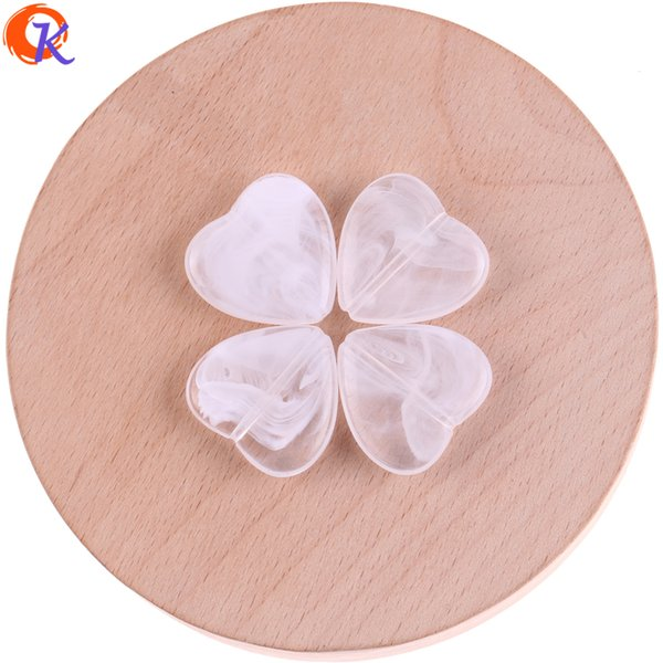 wholesale 230Pcs/Lot 22*23mm Acrylic Beads/Could Effect Beads/Hand Made/Heart Shape/Jewelry Accessories/Earring Findings