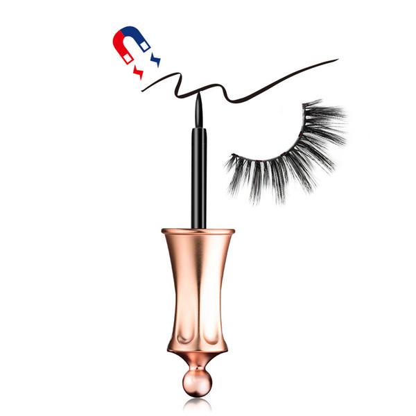 2019 New Magnetic Liquid Eyeliner Facile da indossare Forte aspirazione Magnetic Eyelash Eyeliner speciale False Eyelash Assistant Eyeliner 4ML