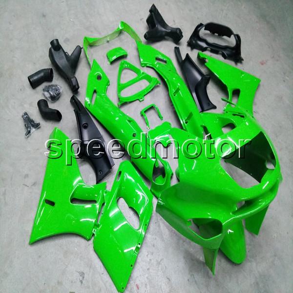 Tornillos + regalos Moldeo por inyección Carenado de la motocicleta verde Carenado para Kawasaki NINJIA ZZR400 1993-2007 ZZR 400 93 03 plástico ABS