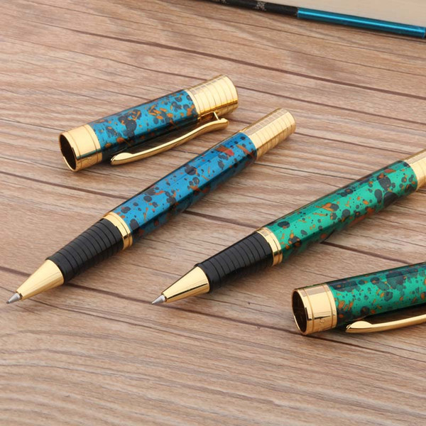 metal 850 GOLDEN PEN STUDENT Red Ice Flor lujoso regalo Rollerball Pen