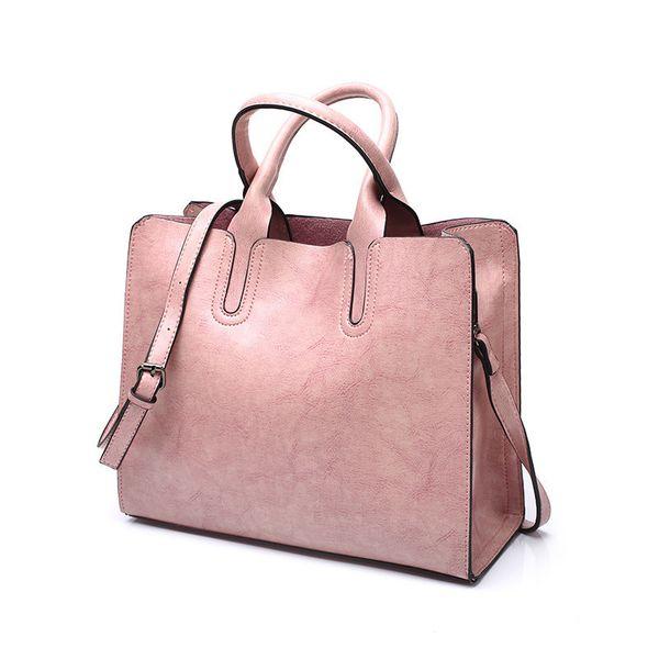 Tagdot Brand Large Tote Bags Pu Leather Fashion Shoulder Messenger Bag Women Leather Handbag Bags For Women Black Blue Pink 2018 Y19051502