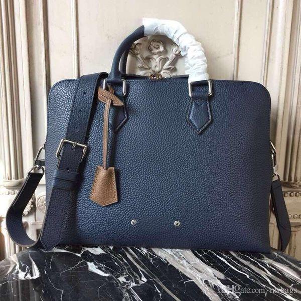 Nueva caliente-vendedor de estilo maletín de negocios de gama alta calidad de diseño bolso de la manera de los hombres con la correa de hombro de cuero cruzada cuerpo portátil