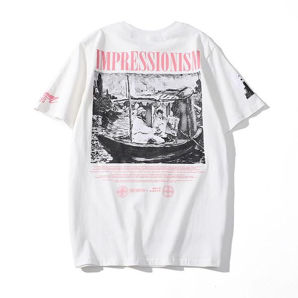 Fashion-T shirt mens OFF designer WHITE fashion trend Tshirts street hip hop T Shirts top quality cotton T-Shirts men women couple tees