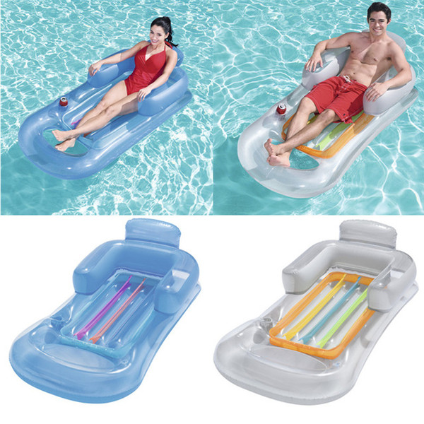 best selling Inflatable Floating Row 157x89cm Beach Swimming Air Mattress Pool Floats Floating Lounge Sleeping Bed for Water Sports Party