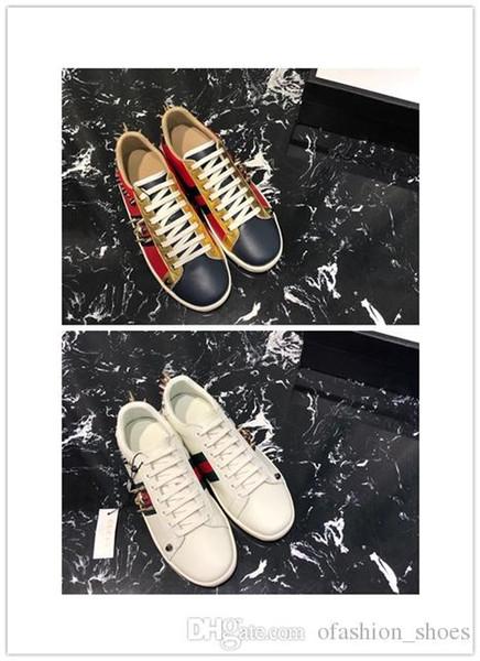 2019 İlkbahar Yaz Sıcak Satış Erkekler Kadınlar Flats Ayakkabı Hakiki Deri 2 Renk Perçin Tırnak Matkap Ile Moda Trendi Ç ...