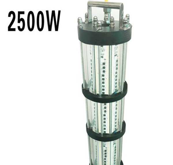 2500 W Verde Subaquática LEVOU Luzes De Pesca Peixe Luring Lâmpada LED de Iluminação Para O Barco Marinha Noite Luzes de Pesca AC220V / AC110V