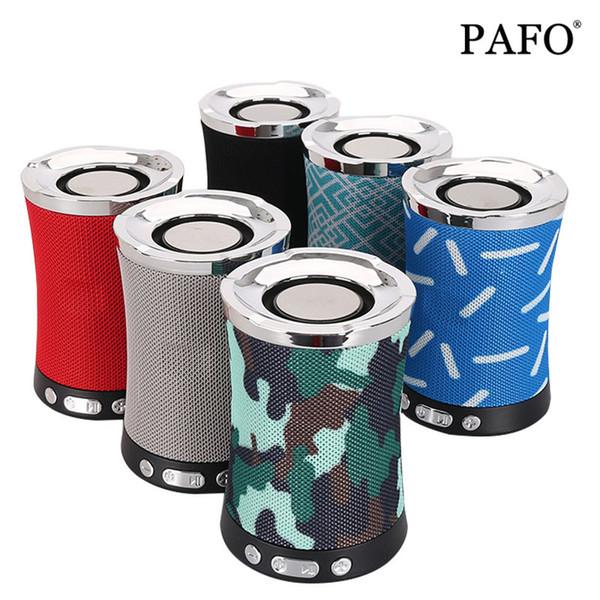 Bluetooth Speaker Fabric Cloth Wireless with TF Card FM Radio USB Flash Drive AUX Audio Loudspeaker Sound Bass System LN-17