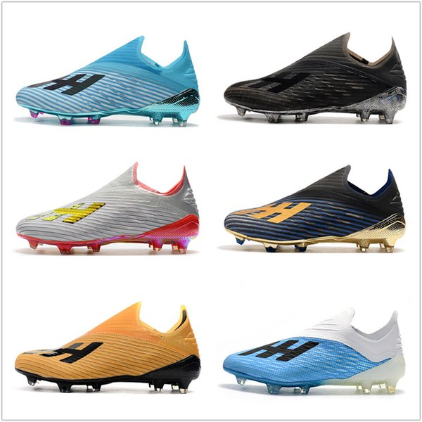 2019 2020 High Quality X 19.1 FG Mens Soccer Shoes With Shoelace Cleats Cheap Chaussures Crampons De Football Boots X19+ Scarpe Da Calcio From