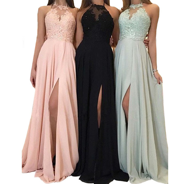 Pink Quinceanera Dresses 2019 Modest Masquerade Front Split Prom Dress Sweet 16 Girls Birthday Party Lace Up Off Shoulder Full Length