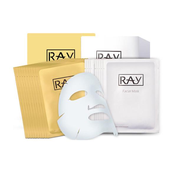 RAY Face Silk Mask Gold Silver Hydration Moisturizing Brighten Fine lines Restore elastic Tight skin Desalination spot Skin Care