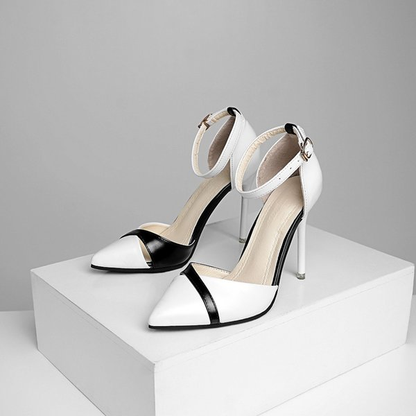 2018 new women's high heels Korean version of Baotou hollow sexy stiletto sandals wild work single shoes