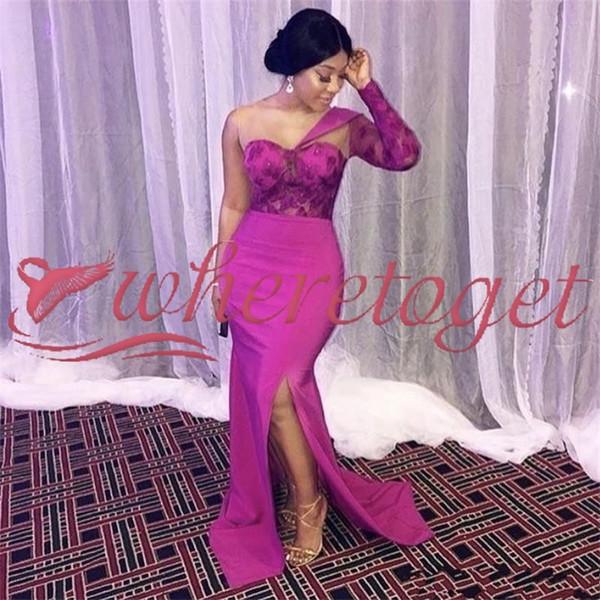 Nigeria 2k19 del cordón del estilo de la sirena de las niñas negras niñas vestidos de fiesta formales cóctel desfile vestido de noche del partido para ocasiones Robe de soirée