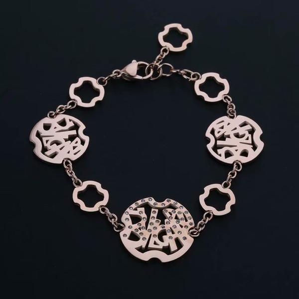 Ажурное письмо браслет дизайнер бренда Love Bracelet Armbänder браслеты с подвесками женские украшения