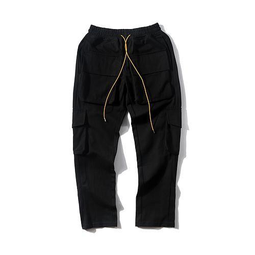 2019 Best Version 1r:1 Military Men Pocket Jogger Pants Hiphop Streetwear Men Pants Joggers Trousers Rhude