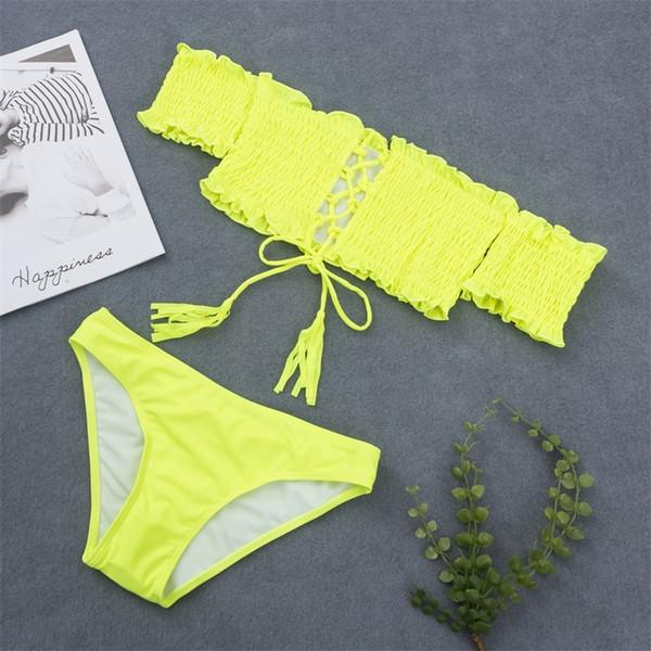 bikinis set yellow