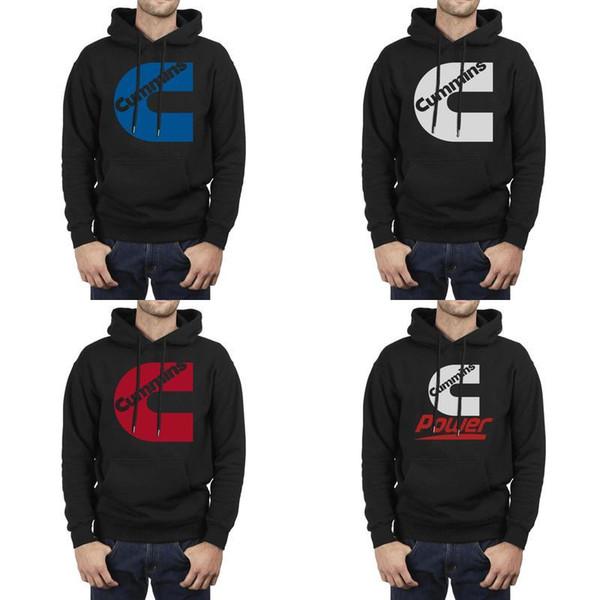 Cummins Logo noir Sweat à capuche en polaire pour homme