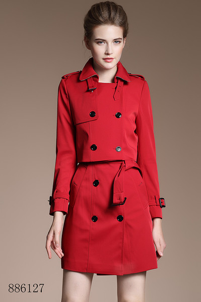 High-end vest skirt with a small jacket set red Double Breasted Coat Jackets Trench Coats Wear Dresses Blouses Shirts T-shirts
