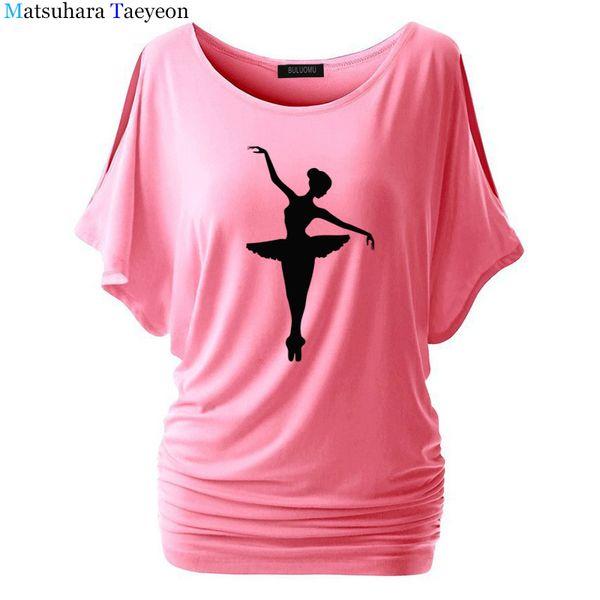Dancer Dancing Ballet Vinyl T-shirt 2018 Cotton Print Womens Summer T Shirt Casual Pattern Funny Shirt Ladies Tee Fashion Y190123