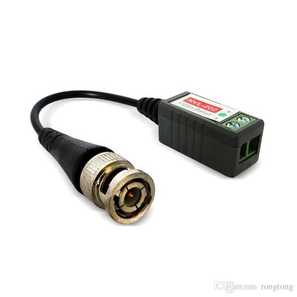 BNC CAT5 Video Balun Transceptor Cable para cámara CCTV Pasivo par trenzado transmisión cámara de vigilancia accesorios equp Transceptores