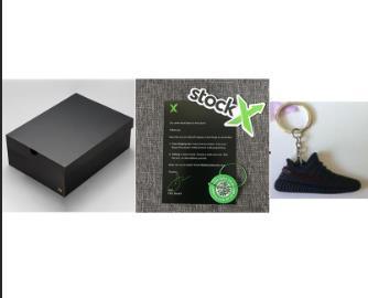 con box + portachiavi + ricezione + stockx tag